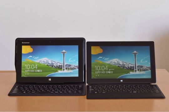 Surface Pro レノボタブレットPC 比較評価